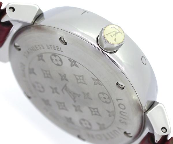 【質Shop天満屋】【人気】ルイ・ヴィトン タンブール ラブリーカップ 12Pダイヤ レディース クオーツ SS/革/ダイヤ シェル文字盤 (Q12M0)_画像3