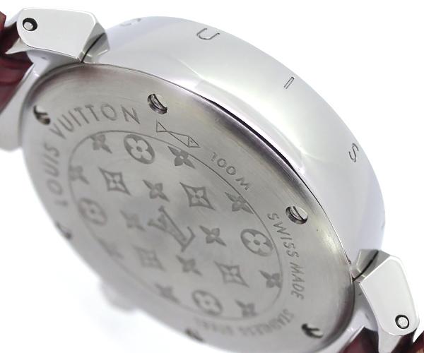 【質Shop天満屋】【人気】ルイ・ヴィトン タンブール ラブリーカップ 12Pダイヤ レディース クオーツ SS/革/ダイヤ シェル文字盤 (Q12M0)_画像4
