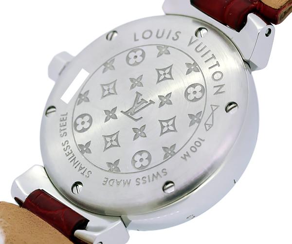 【質Shop天満屋】【人気】ルイ・ヴィトン タンブール ラブリーカップ 12Pダイヤ レディース クオーツ SS/革/ダイヤ シェル文字盤 (Q12M0)_画像8