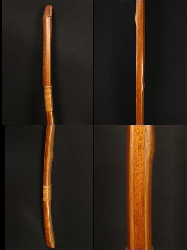 1 弓道具 肥後三郎 花押 竹弓 和弓_画像4