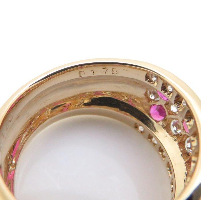 リング K18YG ルビー1.40ct ダイヤモンド1.75ct 12.5号 18金イエローゴールド 指輪 レディース ジュエリー /64348 【中古】_画像8