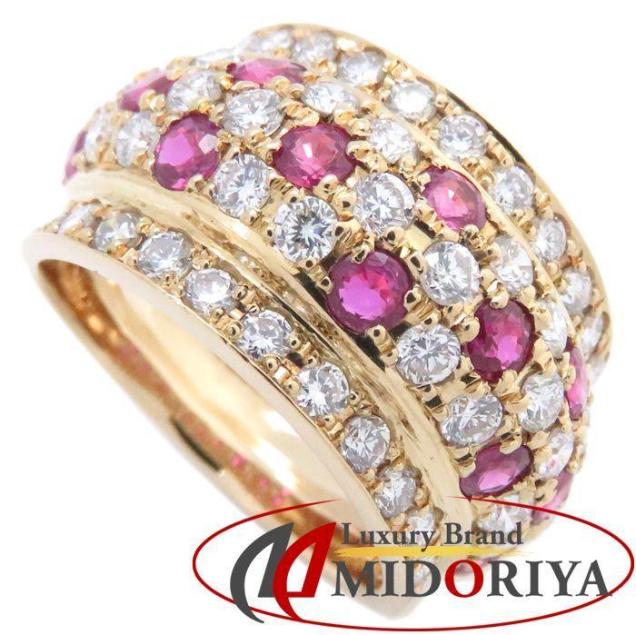 リング K18YG ルビー1.40ct ダイヤモンド1.75ct 12.5号 18金イエローゴールド 指輪 レディース ジュエリー /64348 【中古】_画像1