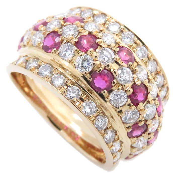 リング K18YG ルビー1.40ct ダイヤモンド1.75ct 12.5号 18金イエローゴールド 指輪 レディース ジュエリー /64348 【中古】_画像9