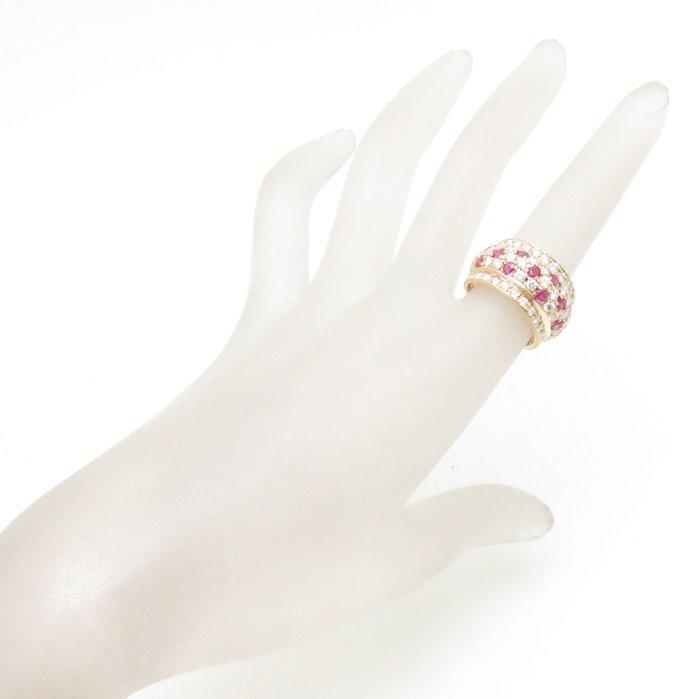 リング K18YG ルビー1.40ct ダイヤモンド1.75ct 12.5号 18金イエローゴールド 指輪 レディース ジュエリー /64348 【中古】_画像2