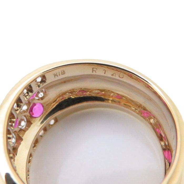 リング K18YG ルビー1.40ct ダイヤモンド1.75ct 12.5号 18金イエローゴールド 指輪 レディース ジュエリー /64348 【中古】_画像7