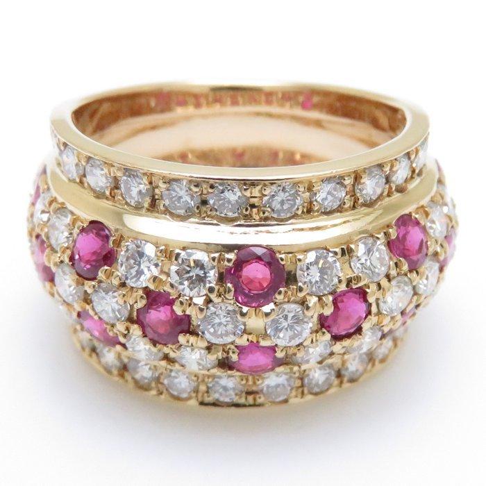 リング K18YG ルビー1.40ct ダイヤモンド1.75ct 12.5号 18金イエローゴールド 指輪 レディース ジュエリー /64348 【中古】_画像3