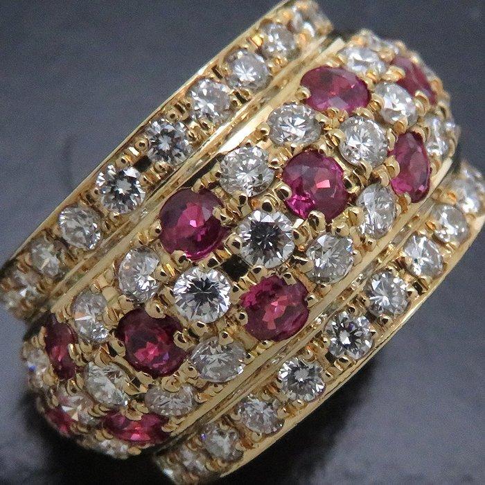 リング K18YG ルビー1.40ct ダイヤモンド1.75ct 12.5号 18金イエローゴールド 指輪 レディース ジュエリー /64348 【中古】_画像6