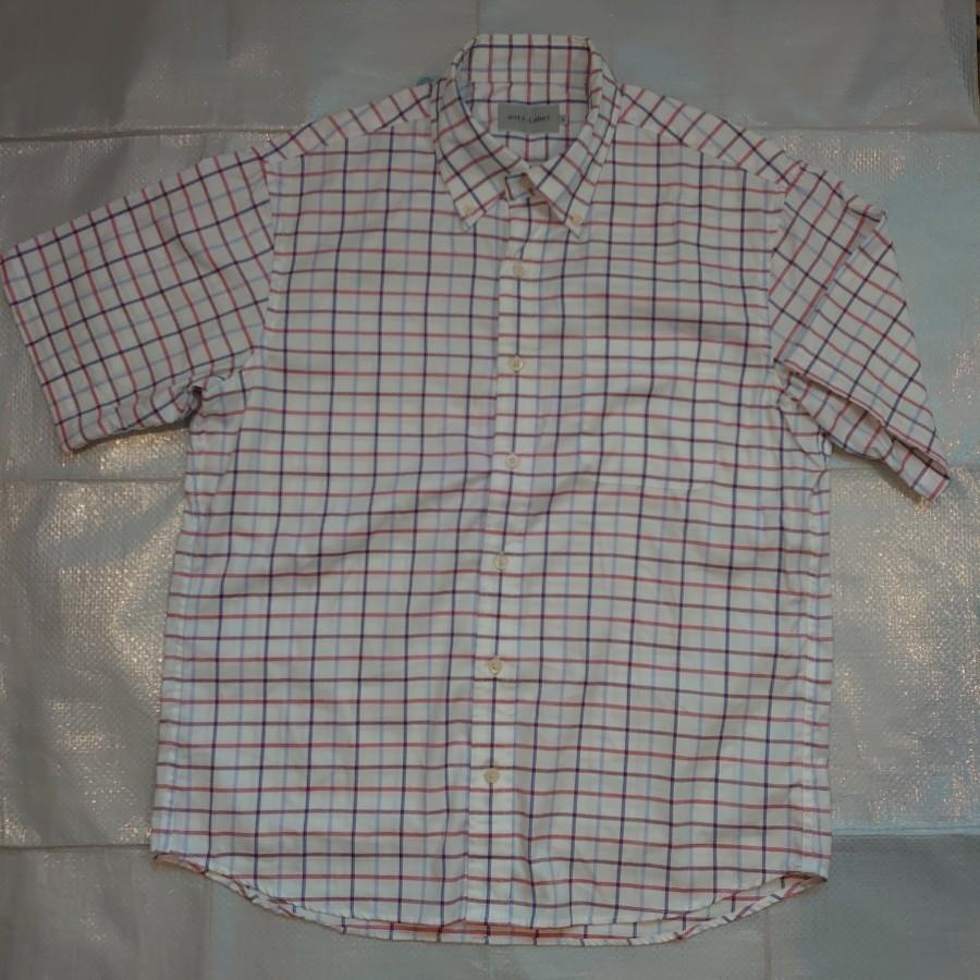 チェック柄 ボタンダウンシャツ 半袖シャツ