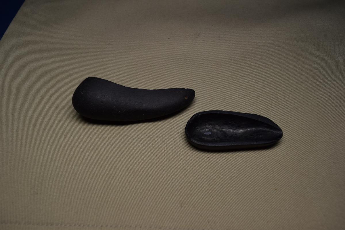利根川石 舟形石 (盆景 水石 鑑賞石 飾り石)ID3439_画像8