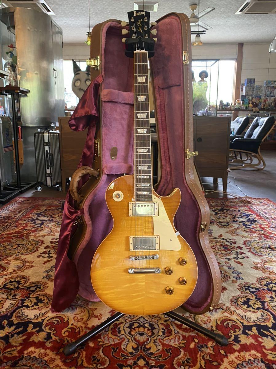 希少品 極上個体 1988年製 Burny Les Paul 59 model Gibson LesPaul バーニー ギブソン レスポール 極上虎目 ヴィンテージ ハニーバースト