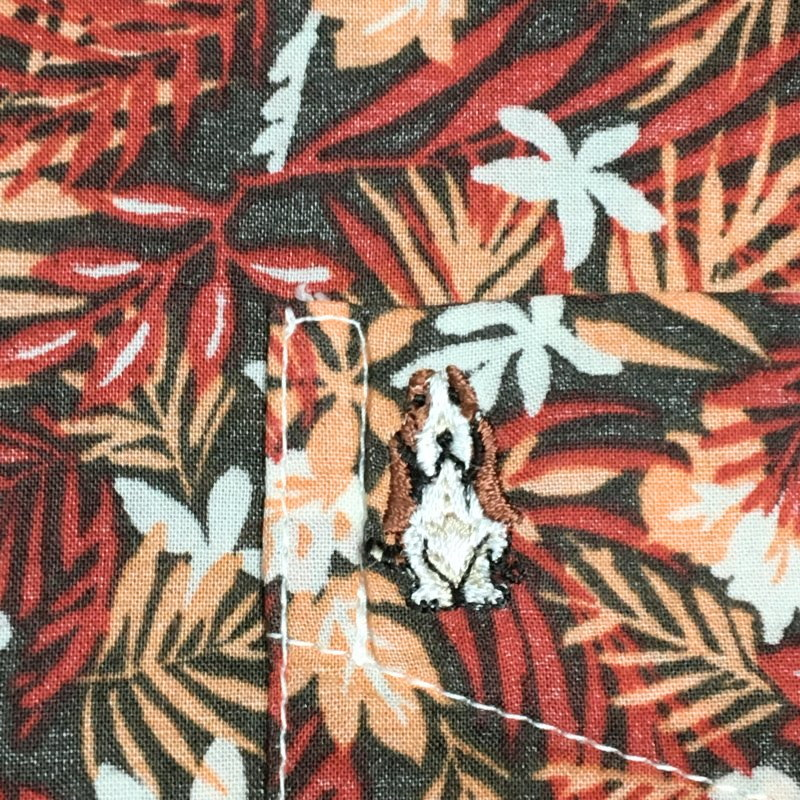 《郵送無料》■Ijinko◆美品◆ハッシュパピーアパレル(Hush Puppies Apparel)アロハ M サイズ半袖シャツ