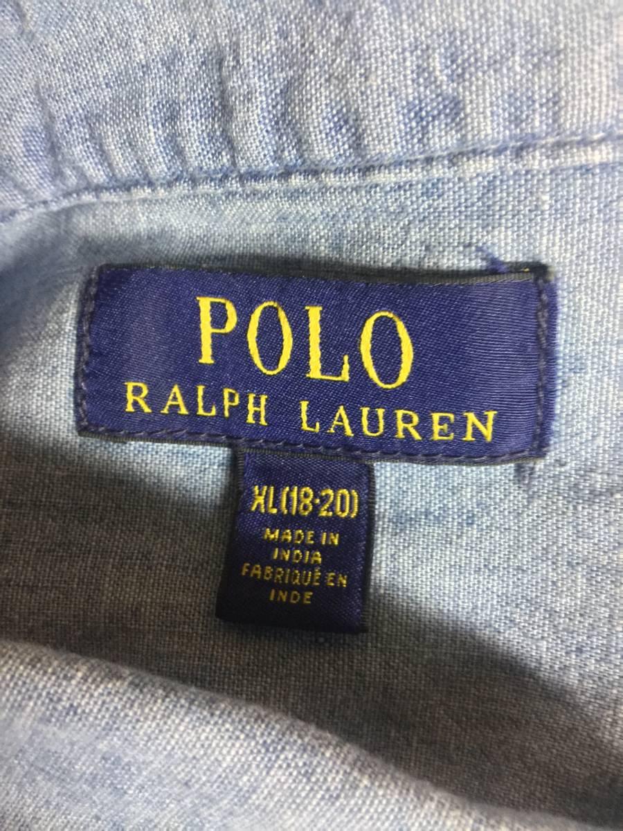 ポロラルフローレン POLO RALPH LAUREN シャンブレーシャツ_画像3