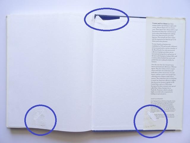 洋書◆マイセン人形の写真集 本 アンティーク フィギュア 陶磁器 工芸品_ページの固着を剥がした跡があります。