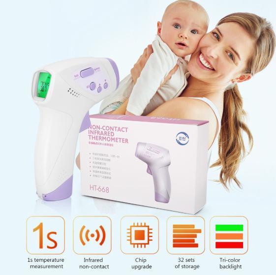 s7 非接触型デジタル体温計 パープル 赤外線 タッチレス 高速計測 大人 子供 赤ちゃん 家庭用 飲食店 病院_画像2