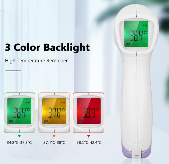 s7 非接触型デジタル体温計 パープル 赤外線 タッチレス 高速計測 大人 子供 赤ちゃん 家庭用 飲食店 病院_画像3