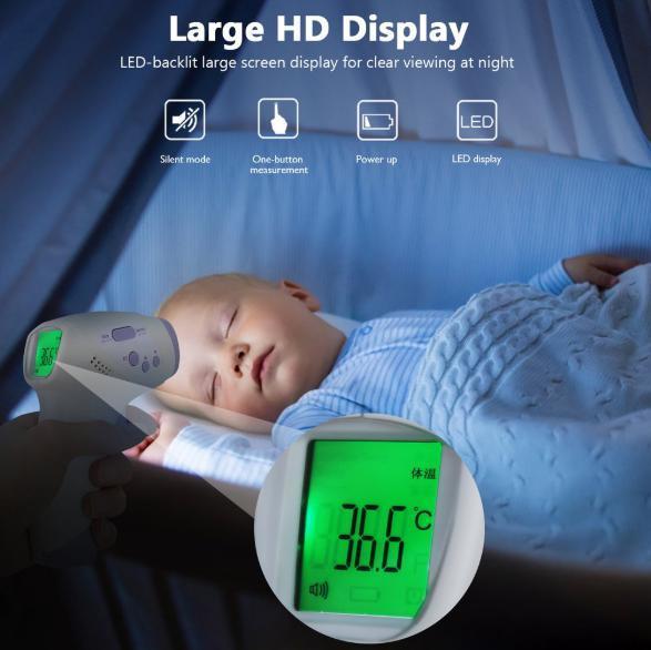 s7 非接触型デジタル体温計 パープル 赤外線 タッチレス 高速計測 大人 子供 赤ちゃん 家庭用 飲食店 病院_画像6