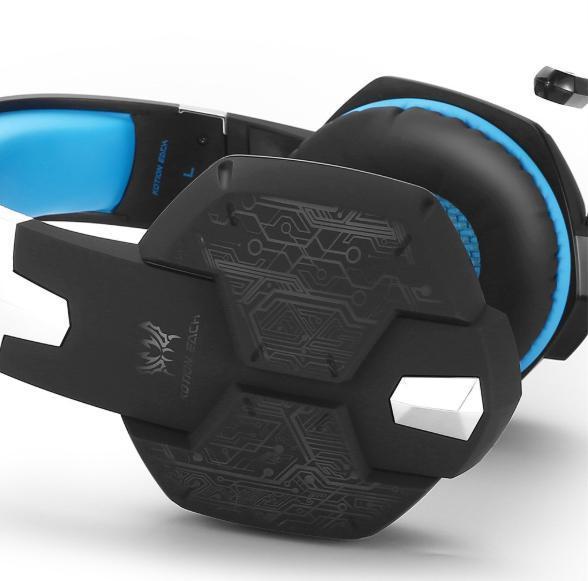 W50 ゲーミングステレオヘッドホン ゲーム ヘッドセット 高音質 マイク LEDライト 手元コントローラー 快適装着性 ブルー/青 PC/PS4/XBOX_画像6