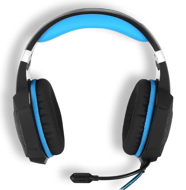 W50 ゲーミングステレオヘッドホン ゲーム ヘッドセット 高音質 マイク LEDライト 手元コントローラー 快適装着性 ブルー/青 PC/PS4/XBOX_画像5