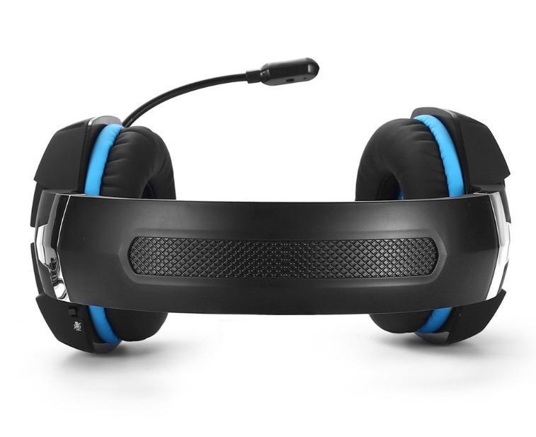 W50 ゲーミングステレオヘッドホン ゲーム ヘッドセット 高音質 マイク LEDライト 手元コントローラー 快適装着性 ブルー/青 PC/PS4/XBOX_画像4