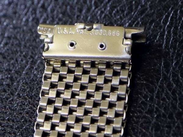 15.7~18.7mm 直かん/ NASA ミッションブレス 1960'S JB CHAMPION チャンピオン メッシュ スピードマスター用 ビンテージ ベルト バンド_画像8