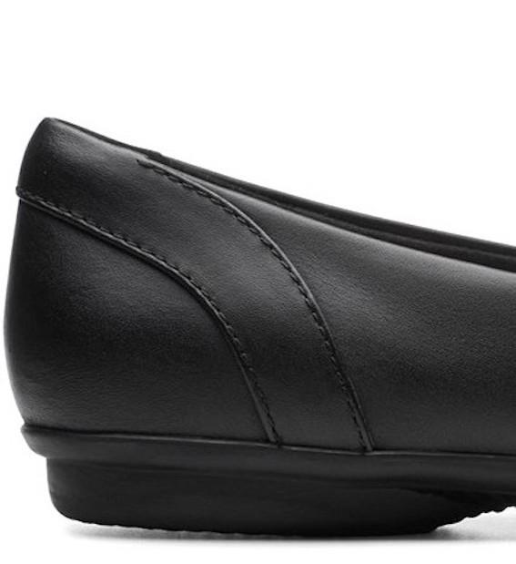 送料無料 Clarks 25.5cm フラット ブラック バレエ ヒール フォーマル レザー 革 ローファー パンプス スニーカー サンダル ST3_画像8