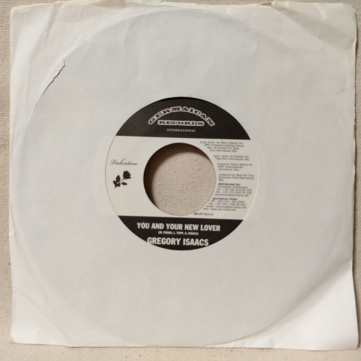 GREGORY ISAACS YOU & YOUR NEW LOVER / MARCO BARESI VALENTINE ★ レゲエ / ダンスホール★7インチレコード[6747EP_画像1