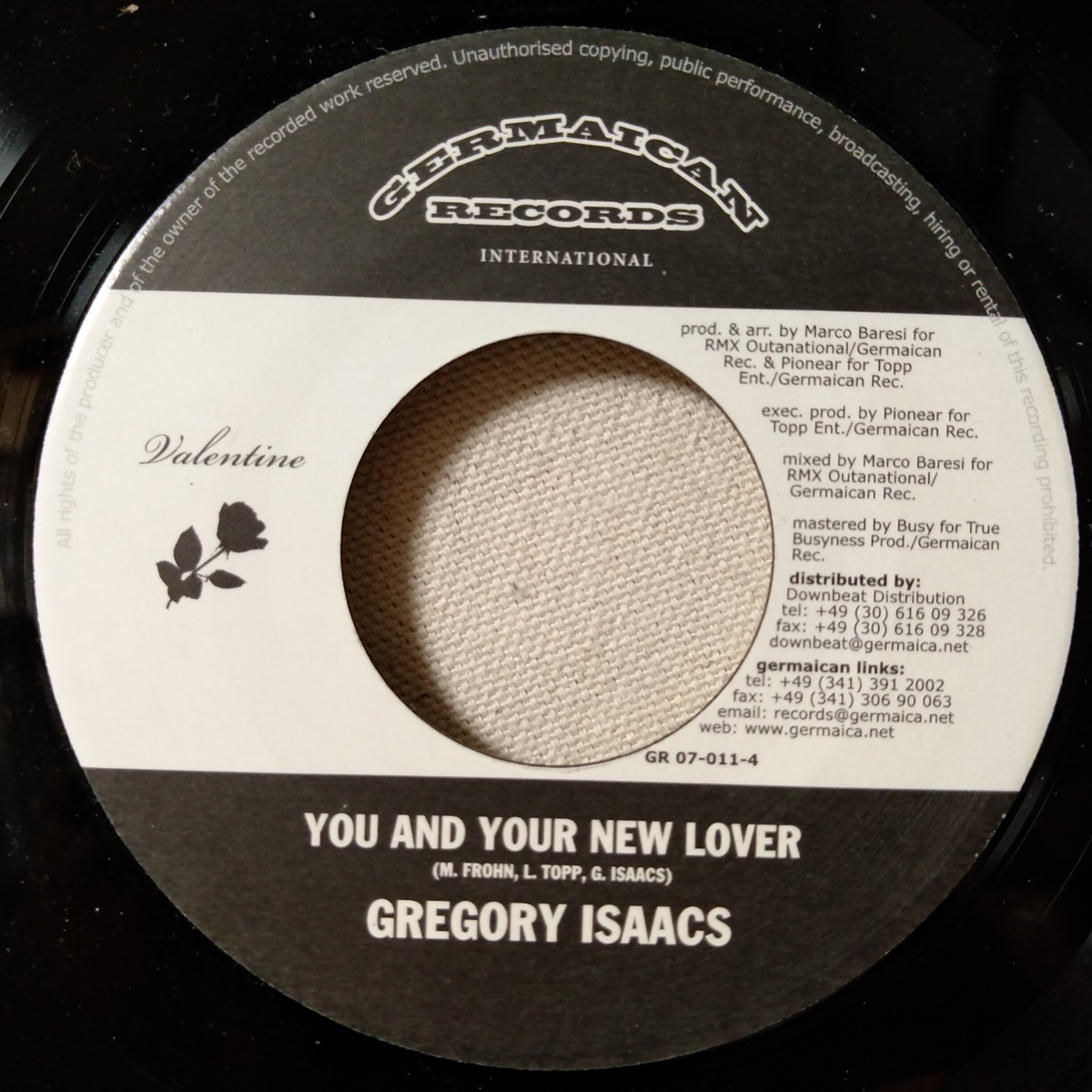 GREGORY ISAACS YOU & YOUR NEW LOVER / MARCO BARESI VALENTINE ★ レゲエ / ダンスホール★7インチレコード[6747EP_画像2