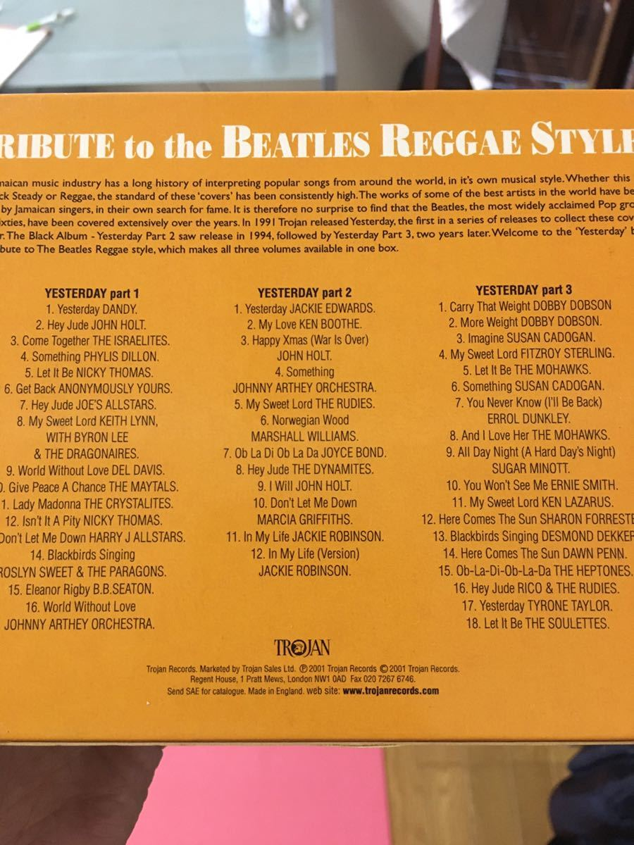 Tribute to the Beatles reggae style CD