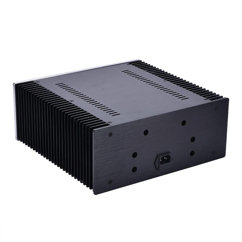 総アルミ製シャーシケース32131両側ヒートシンク 真空管アンプ パワーアンプ デジタルアンプ ヘッドホンアンプ USB DAC PCオーディオ自作に_画像2