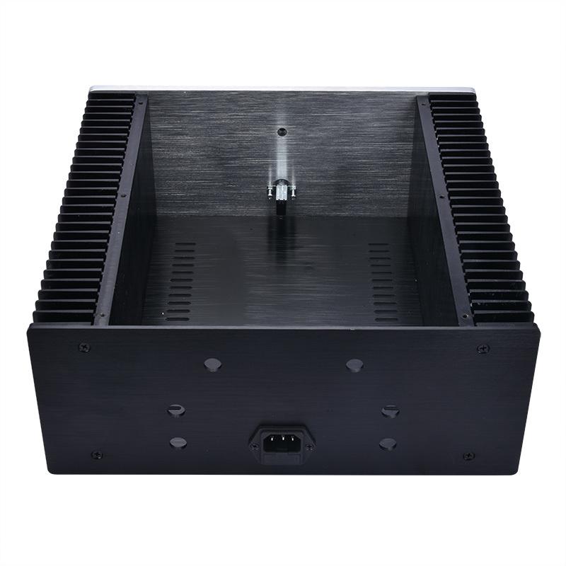 総アルミ製シャーシケース32131両側ヒートシンク 真空管アンプ パワーアンプ デジタルアンプ ヘッドホンアンプ USB DAC PCオーディオ自作に_画像3