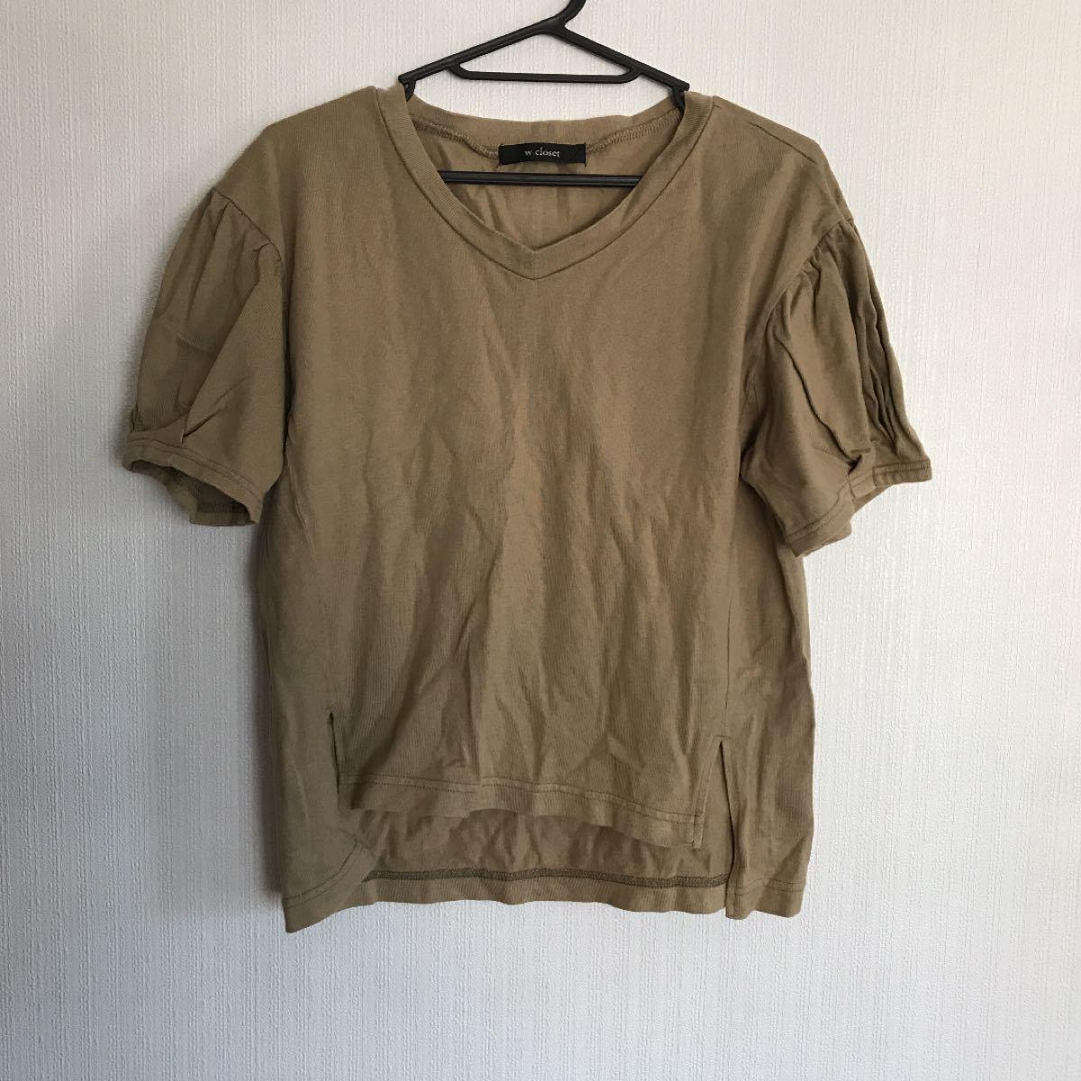 袖かわいいTシャツ カットソー