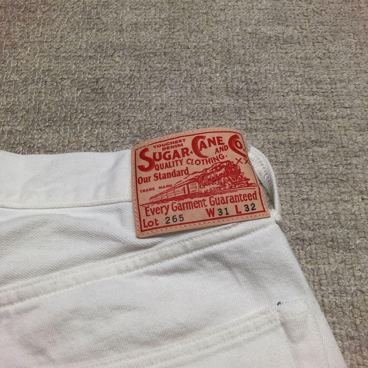 SUGAR CANE Lot265 ホワイトジーンズ W31/検 シュガーケーン バズリクソンズ 東洋 リアルマッコイズ ウエアハウス_画像3