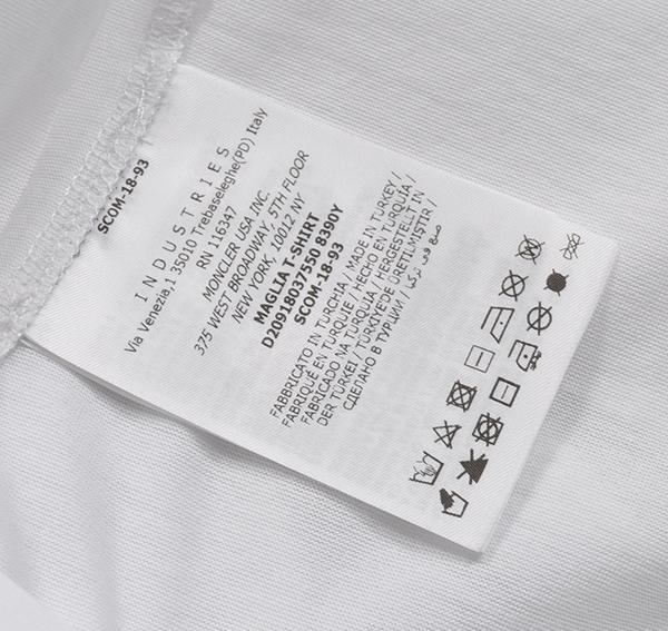 新品6.4万 MONCLER ( モンクレール ) 最高級!大人のハイクオリティーなペイントデザイン!Tシャツ 半袖 (Lサイズ)【直営購入】白_画像10