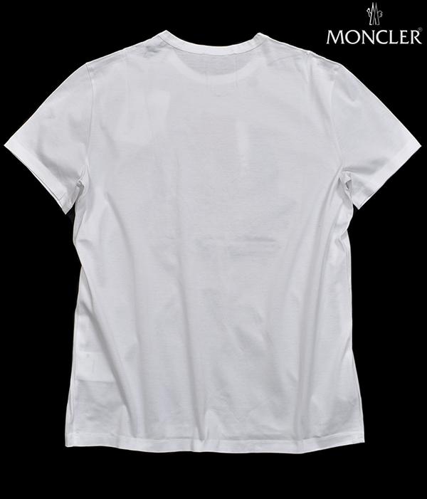 新品6.4万 MONCLER ( モンクレール ) 最高級!大人のハイクオリティーなペイントデザイン!Tシャツ 半袖 (Lサイズ)【直営購入】白_画像3