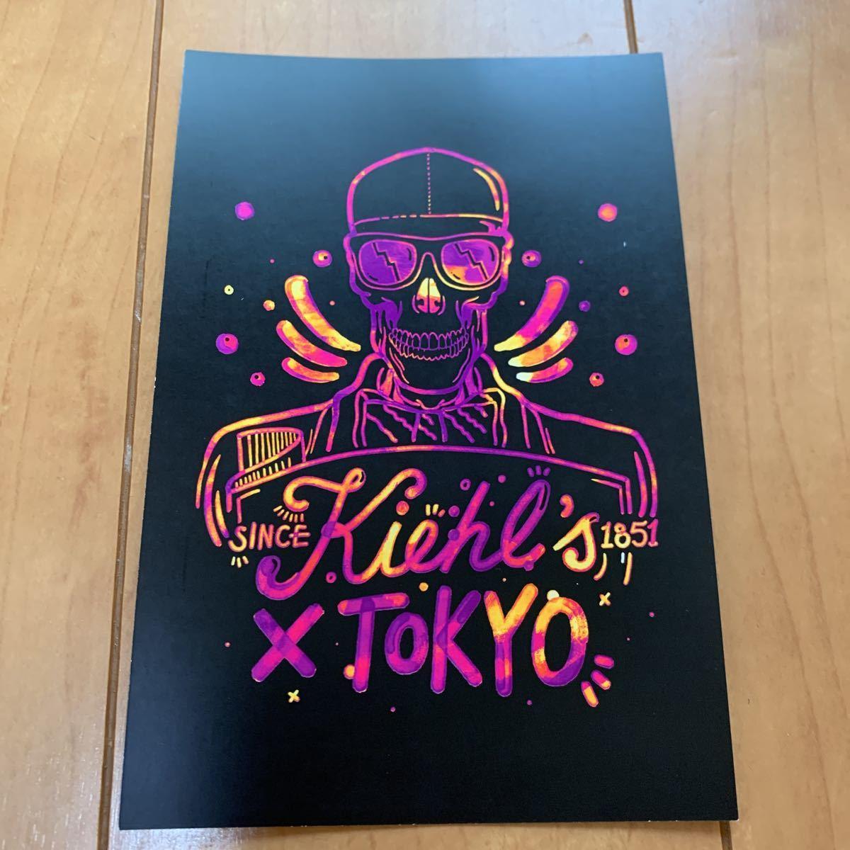kiehl's キールズ エコバッグ 非売品 ノベルティ トートバッグ エコバック ショッピングバッグ 黒 ブラック オリジナル カード 限定