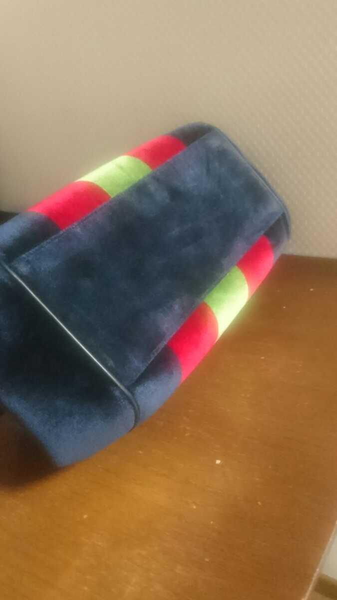 ロベルタ カメリーノ (バゴンギ)ベロア/レザー 定番カラー ハンドバッグ 極美品 _画像4
