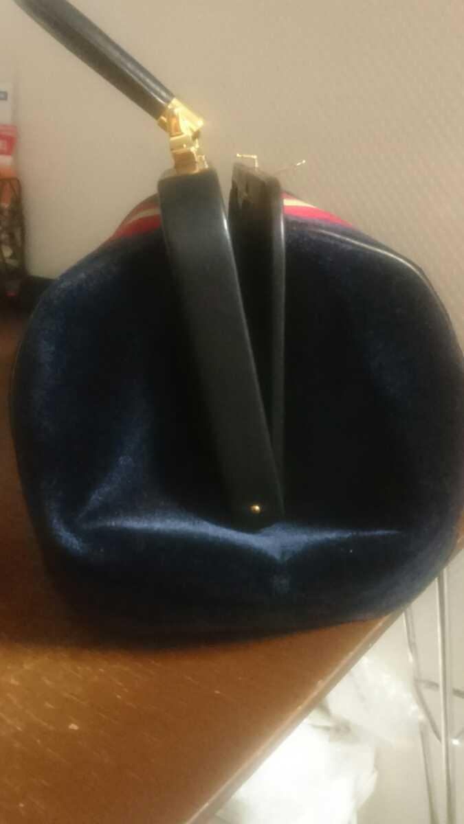 ロベルタ カメリーノ (バゴンギ)ベロア/レザー 定番カラー ハンドバッグ 極美品 _画像6