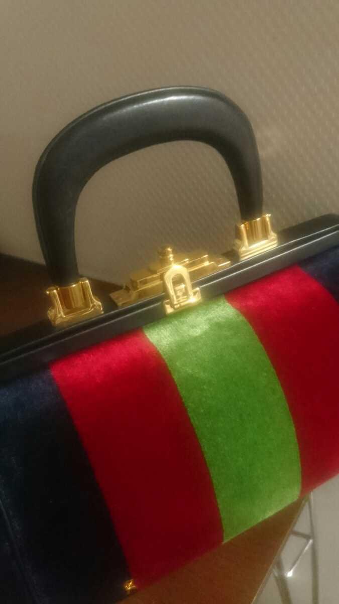 ロベルタ カメリーノ (バゴンギ)ベロア/レザー 定番カラー ハンドバッグ 極美品 _画像2