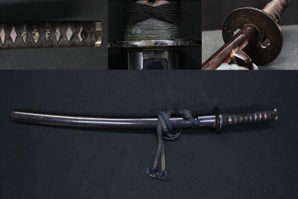 ⑥ 刀装具 拵 象嵌 鍔 鞘 縁頭 目貫 鮫皮 時代物