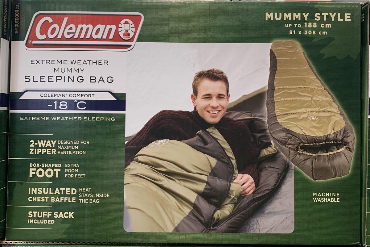 【2個】【送料無料】【新品】コールマン Coleman 寝袋 耐寒-18度 マミースタイル ノースリム スリーピングバッグ NORTH RIM SLEEPING BAG