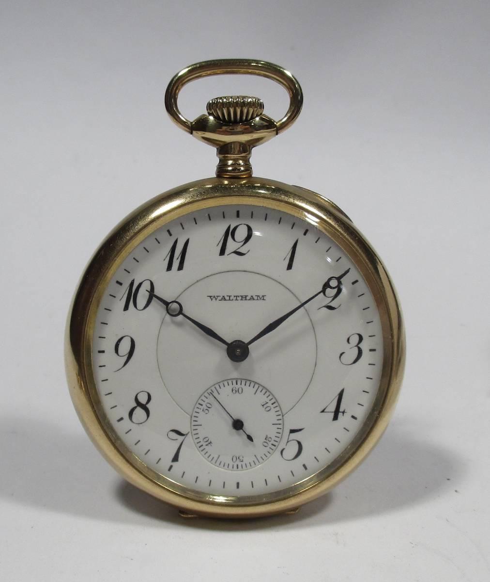 ☆ ウォルサム SKS18K専売側 19石 リバーサイド 提げ時計 6