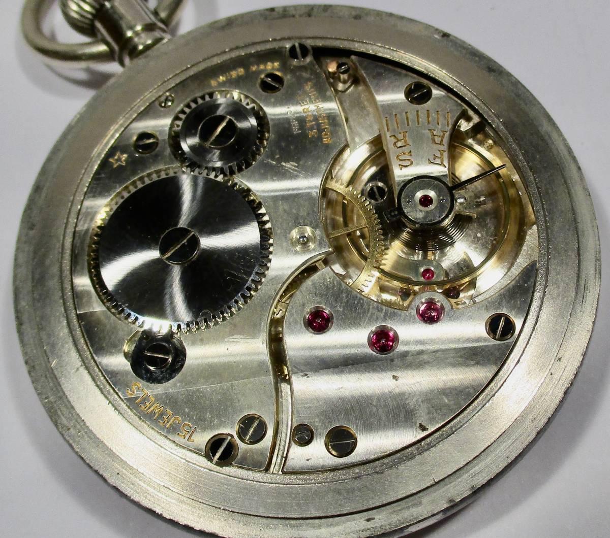 ☆ 英国軍用 ブロードアロー 第二次世界大戦 提げ時計 1940年頃_画像4