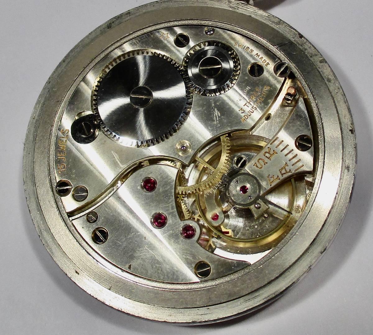 ☆ 英国軍用 ブロードアロー 第二次世界大戦 提げ時計 1940年頃_画像6