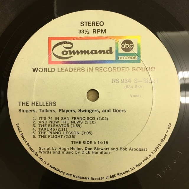 LP The Hellers / Singers…Talkers…Players…Swingers… & Doers USオリジ Command RS934SD 電子コラージュ サイケ モーグ_画像4