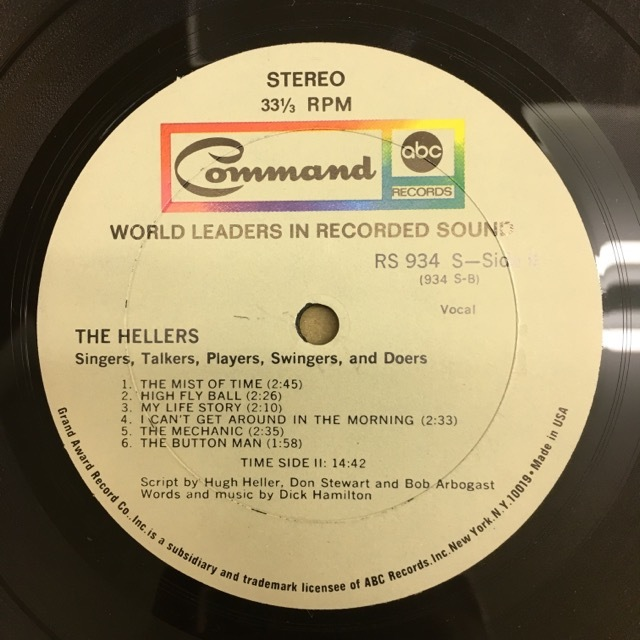LP The Hellers / Singers…Talkers…Players…Swingers… & Doers USオリジ Command RS934SD 電子コラージュ サイケ モーグ_画像5