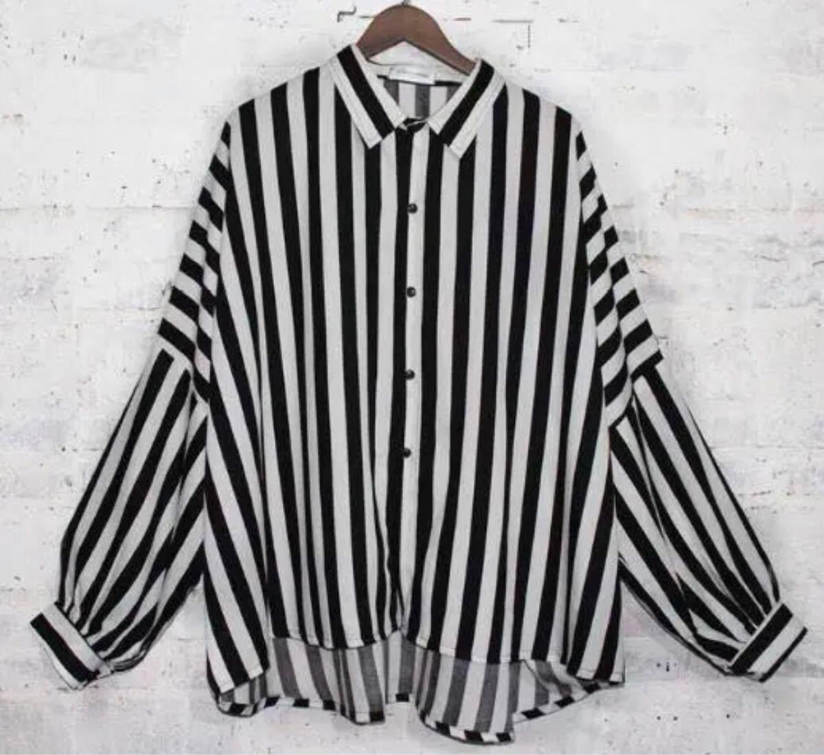 メンズ シャツ ビッグシルエット メンズシャツ ドルマンシャツ ストライプシャツ