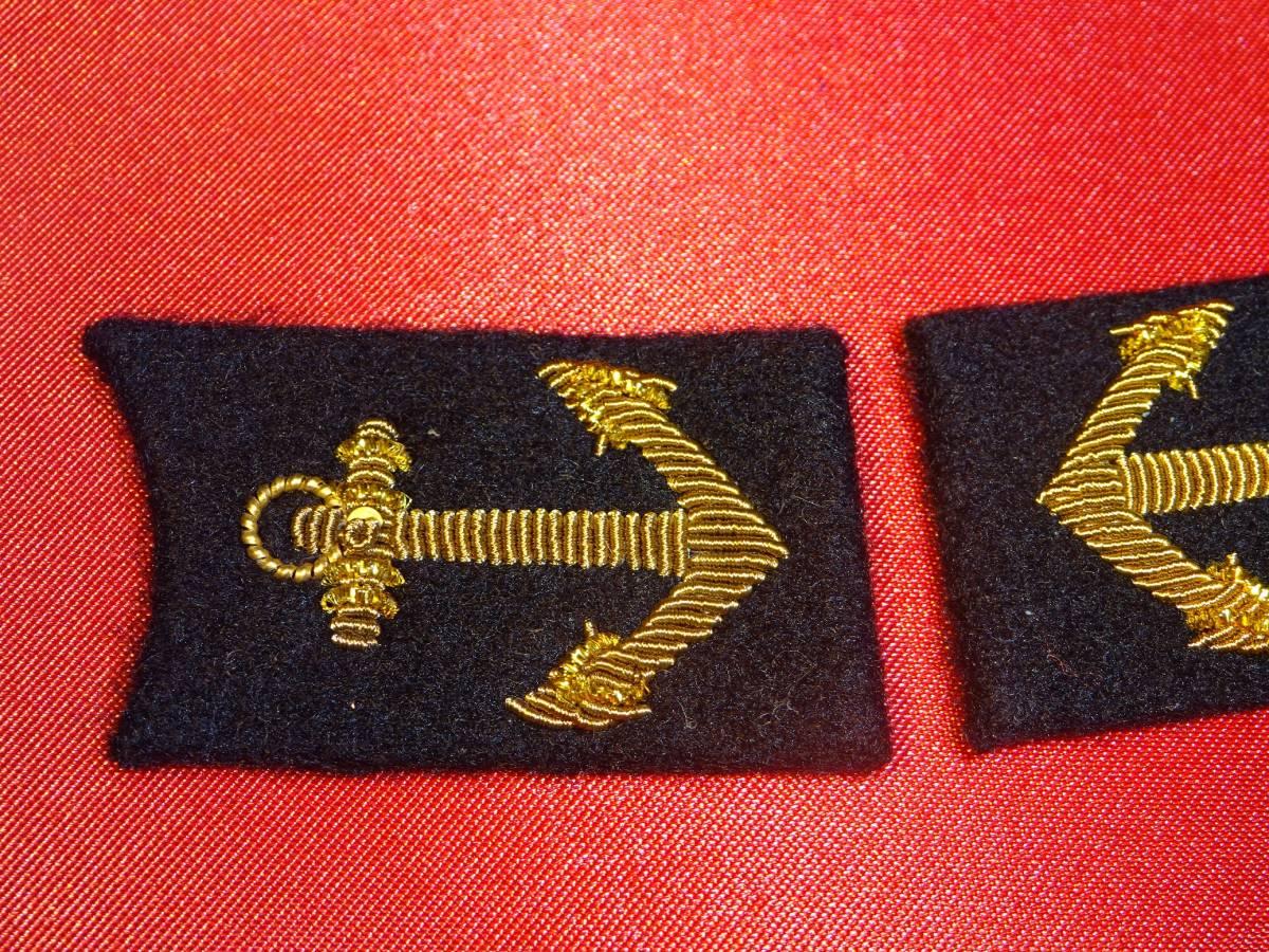 [実物級]大日本帝国海軍兵学校礼装用襟章_画像2