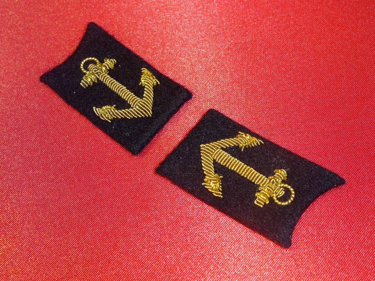 [実物級]大日本帝国海軍兵学校礼装用襟章_画像4