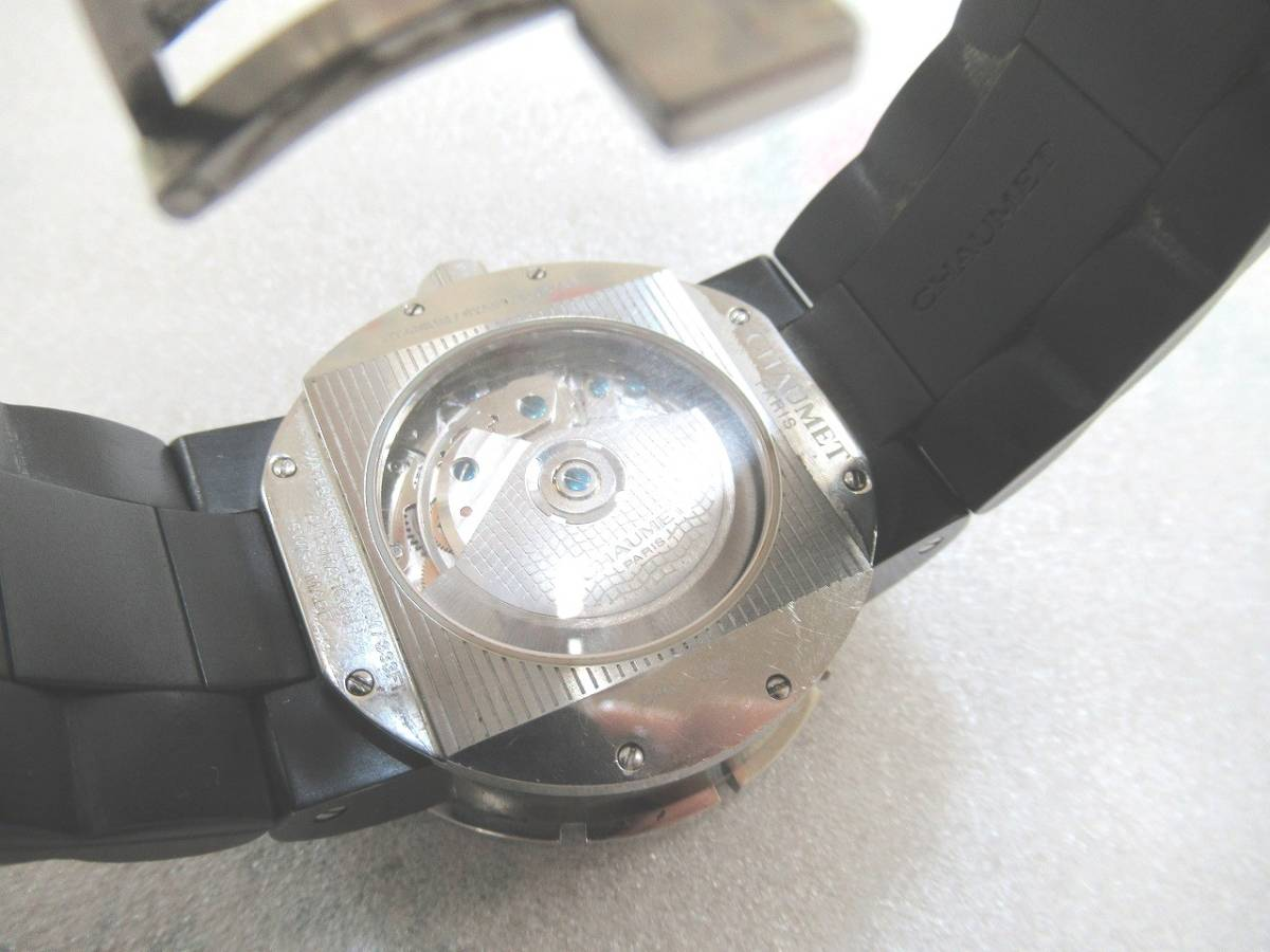 CHAUMET ショーメ クラスワン クロノグラフ XXL メンズ 腕時計 自動巻 裏スケルトン(シースルー)W17291-45B_画像3