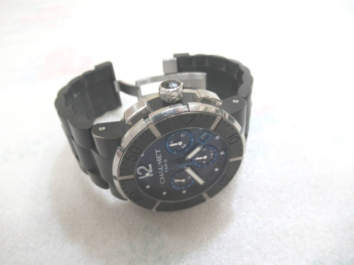 CHAUMET ショーメ クラスワン クロノグラフ XXL メンズ 腕時計 自動巻 裏スケルトン(シースルー)W17291-45B_画像5